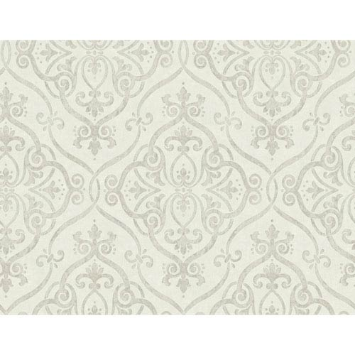 Glam Beige and Silver Glitter Interlocking Geo Wallpaper: Sample Swatch Only
