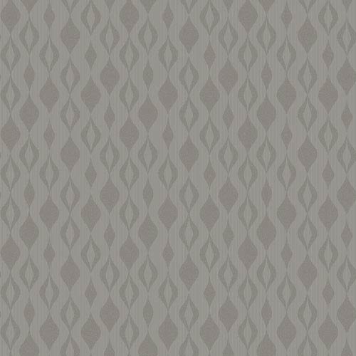 Glam Grey and Silver Glitter Ogee Chain Wallpaper: Sample Swatch Only