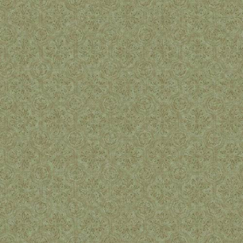 Country Keepsakes Green and Taupe Small Tiles Wallpaper