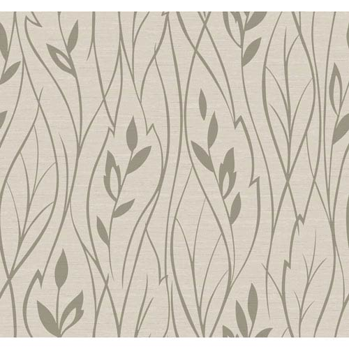 York Wallcoverings Dazzling Dimensions Leaf Silhouette Wallpaper- Sample Swatch Only