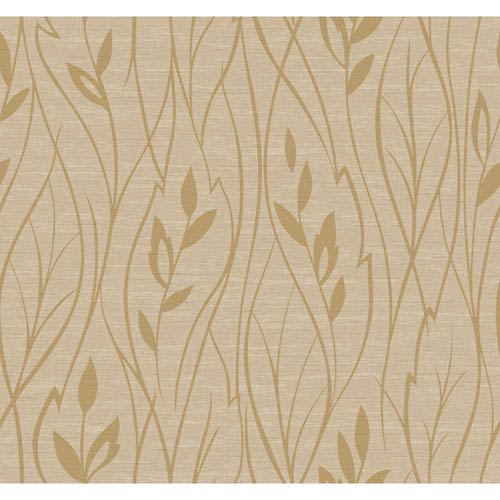 Dazzling Dimensions Leaf Silhouette Wallpaper- Sample Swatch Only