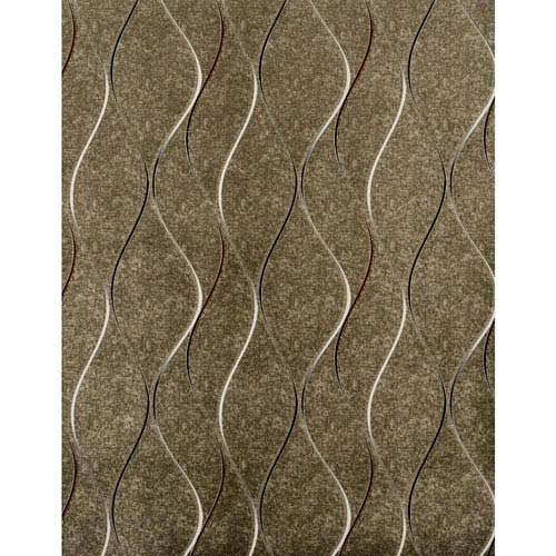 York Wallcoverings Dazzling Dimensions Wavy Stripe Wallpaper- Sample Swatch Only