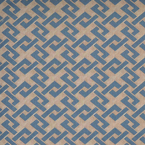 Mid Century Gold and Blue Geometric Wallpaper