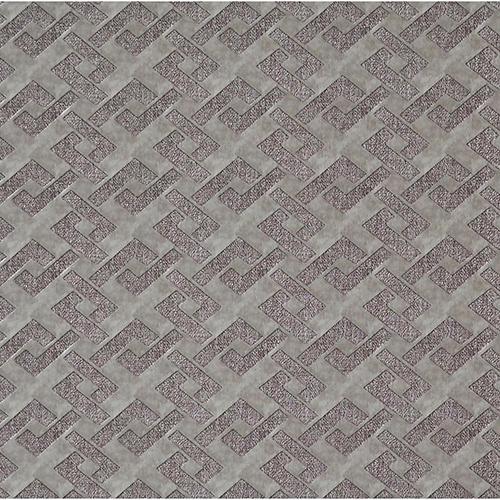 Mid Century Gray and Black Geometric Wallpaper