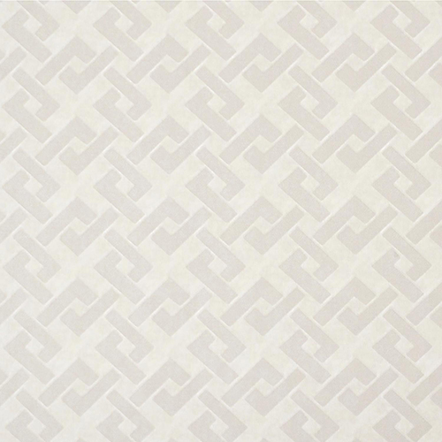 Mid Century Cream Geometric Wallpaper - SAMPLE SWATCH ONLY