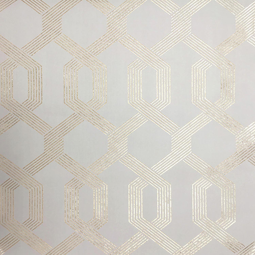 Mid Century Beige and Gold Wallpaper