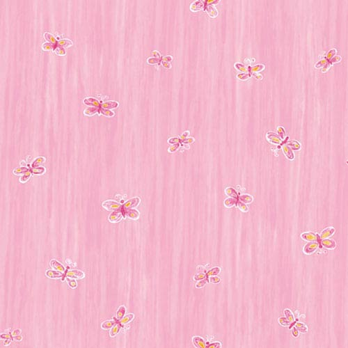 York Wallcoverings York Kids Pinks IV Butterfly Wallpaper: Sample Swatch Only