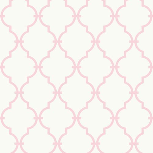 York Wallcoverings Inspired by Color White and Soft Pink Wallpaper: Sample Swatch Only