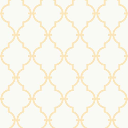 York Wallcoverings Inspired by Color White and Yellow Wallpaper