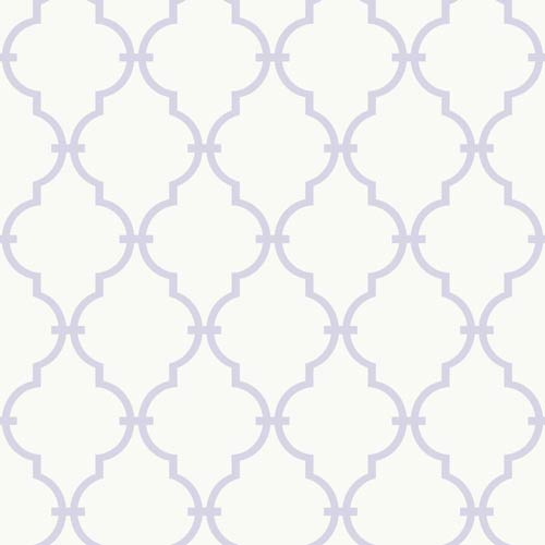 York Wallcoverings Inspired by Color White and Soft Lavender Wallpaper: Sample Swatch Only