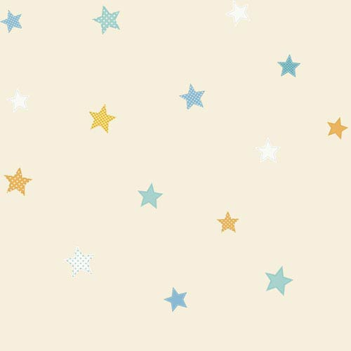 York Wallcoverings Peek A Boo Starry Sky Wallpaper: Sample Swatch Only