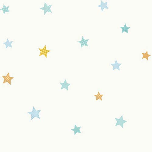 York Wallcoverings Peek A Boo Starry Sky Wallpaper: Sample Swatch Only