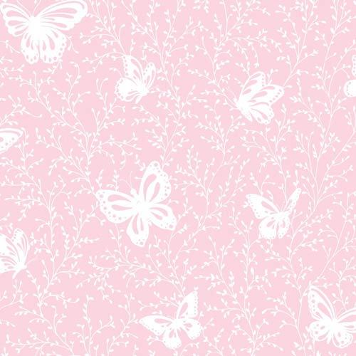 York Wallcoverings Inspired by Color Soft Pink and White Wallpaper: Sample Swatch Only