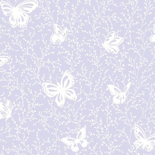 York Wallcoverings Inspired by Color Soft Lavender and White Wallpaper