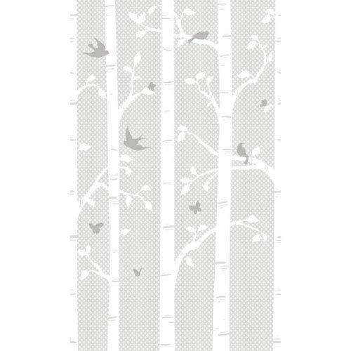 York Wallcoverings Peek A Boo Garden Butterflies and Birds Mural: Sample Swatch Only