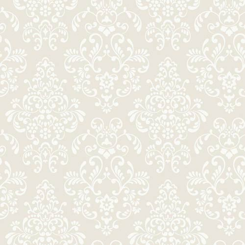 York Wallcoverings Inspired by Color Deep Oyster and White Wallpaper