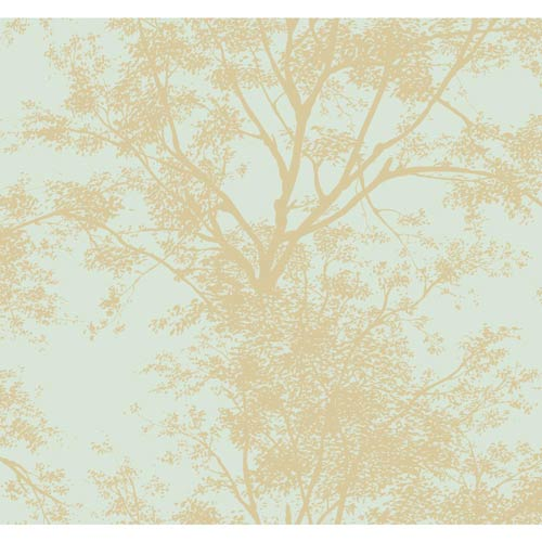 York Wallcoverings Inspired by Color Blue Tree Silhouette Wallpaper: Sample Swatch Only