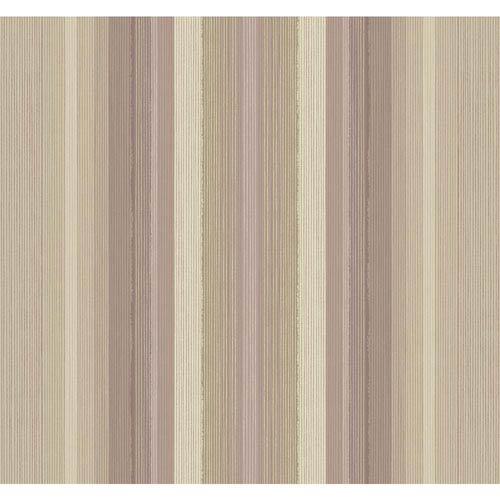 Stockbridge Square Lilac and Cream Ombre Stripe Wallpaper: Sample Swatch Only