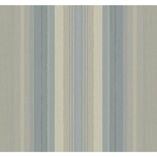 York Wallcoverings Stockbridge Square Grey Blue and Taupe Ombre Stripe Wallpaper: Sample Swatch Only