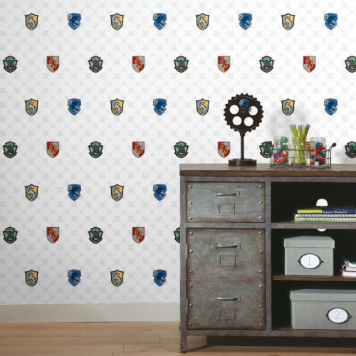Harry Potter Red and Blue House Crest Peel and Stick Wallpaper