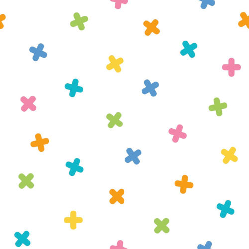 Blue and Orange Colorful x Marks the Spot Peel and Stick Wallpaper-SAMPLE SWATCH ONLY
