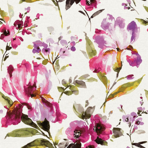 Pink Iris Peel and Stick Wallpaper-SAMPLE SWATCH ONLY