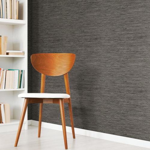 Gray Grass cloth Peel and Stick Wallpaper