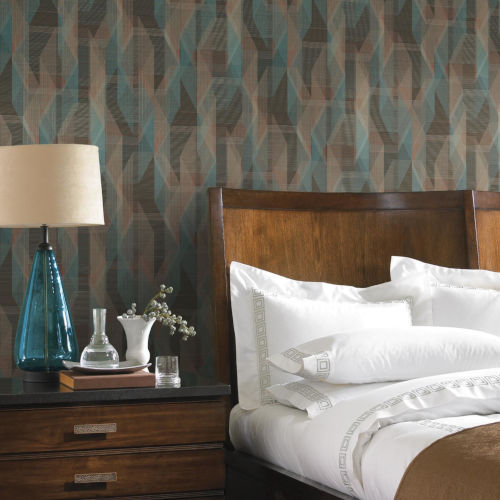 Brown Debonair Geometric Peel and Stick Wallpaper