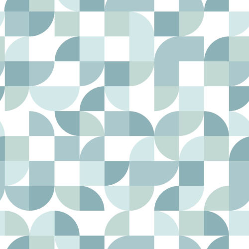 Green Mid-Century Geometric Peel and Stick Wallpaper-SAMPLE SWATCH ONLY