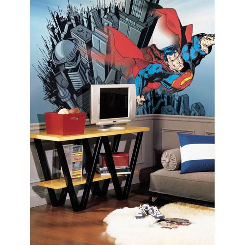 superman nursery decor.htm roommates decor superman chair rail prepasted mural 6 ft x 10 5  chair rail prepasted mural 6 ft x 10 5