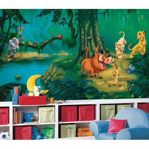 Roommates Decor Lion King Chair Rail Prepasted Mural 6 Ft. x 10.5 Ft. - Ultra-strippable