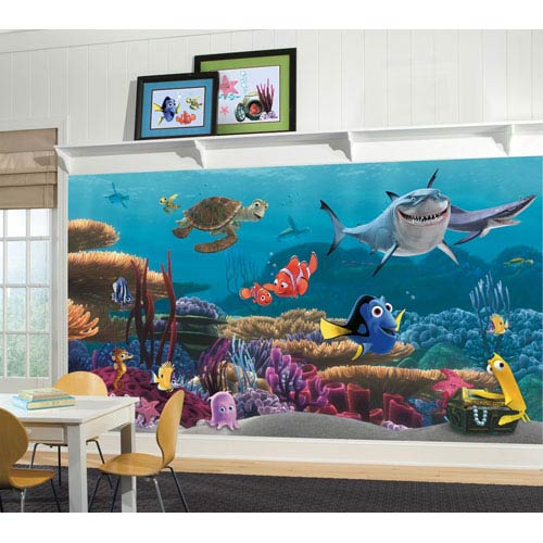 Roommates Decor Finding Nemo Prepasted Mural 6 x 10.5, Ultra Strippable