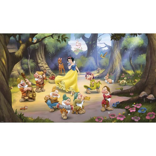 Xl Wall Murals Multicolor Snow White and the Seven Dwarfs Mural 6-ft x 10.5-ft - Ultra-Strippable