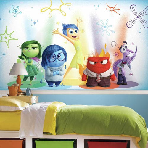 Popular Characters Inside Out XL Chair Rail Prepasted Mural