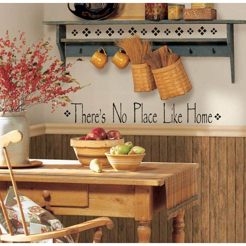 There Is No Place Like Home Peel and Stick Single Sheet