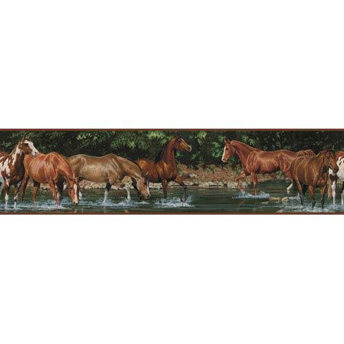Wild Horses Peel and Stick Border