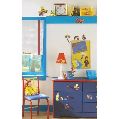 Roommates Decor Curious George Peel and Stick Wall Decals
