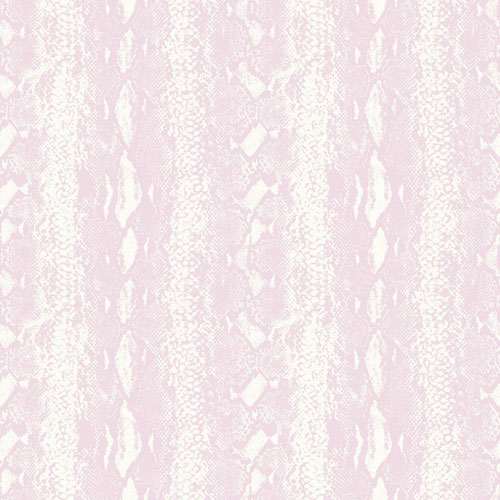 Snake Skin White and Pink Peel and Stick Wallpaper