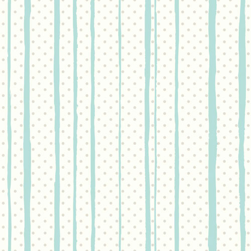 All Mixed Up Silver and Teal Peel and Stick Wallpaper