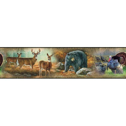 Roommates Decor Wildlife Medley Peel and Stick Border
