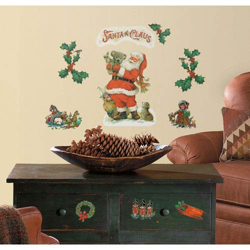 Santa Peel and Stick Wall Decals