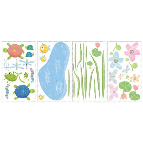 Roommates Decor Hoppy Pond  Peel and Stick Wall Decals
