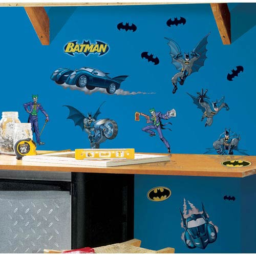 Roommates Decor Batman - Gotham Guardian  Peel and Stick Wall Decals