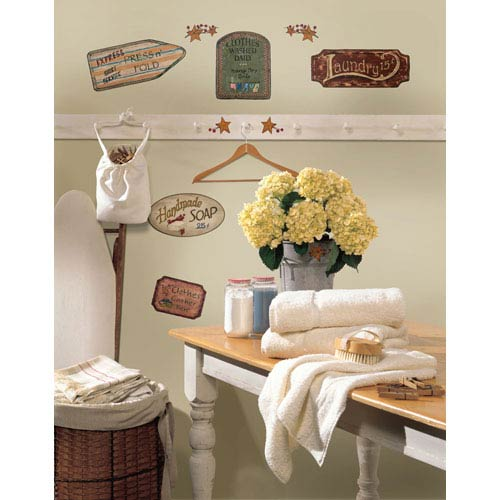 Roommates Decor Country Signs Peel and Stick Wall Decals