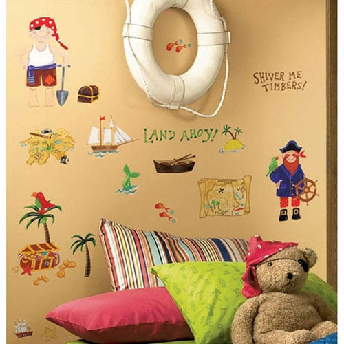 Roommates Decor Treasure Hunt Peel and Stick Wall Decals
