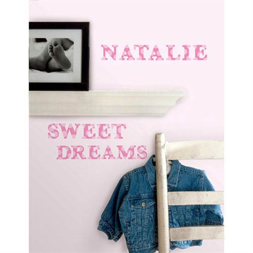 Roommates Decor Express Yourself Pink Peel and Stick Wall Decals