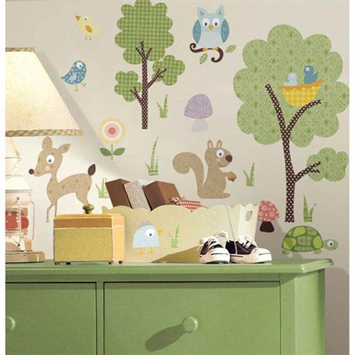 Roommates Decor Woodland Animals Peel and Stick Wall Decals