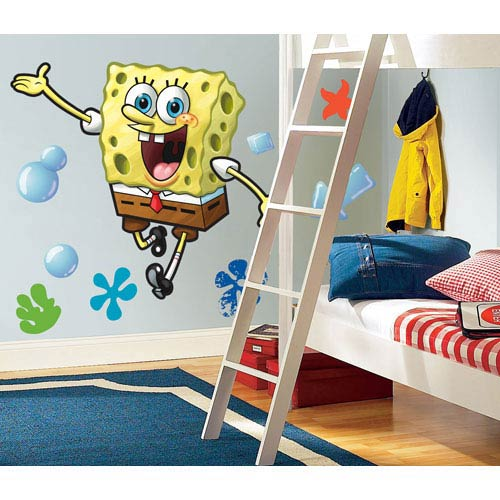 Roommates Decor Spongebob Peel and Stick Giant Wall Decal