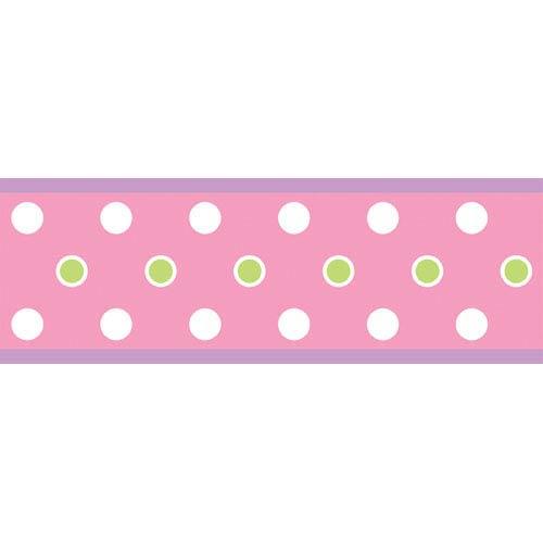 Dot Peel and Stick Border - Pink