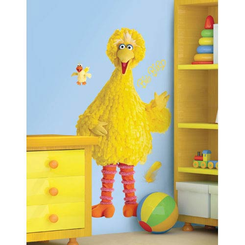 Roommates Decor Sesame Street Big Bird Peel and Stick Giant Wall Decal